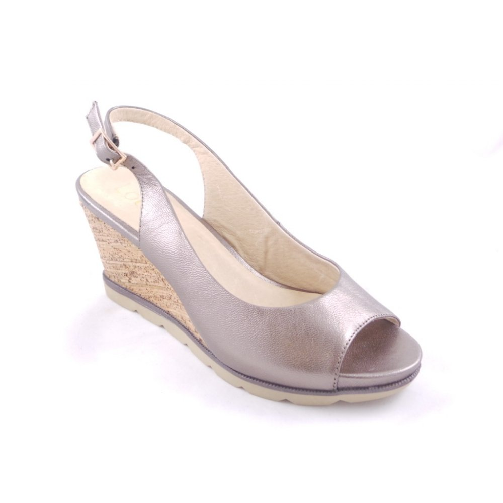 Pewter Wedge Dress Shoes