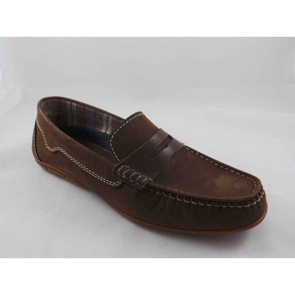 lotus mens vettel brown nubuck casual slip on shoe lotus