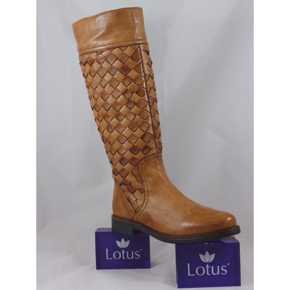 Lotus Rockford Tan Leather Knee-High Boot ...