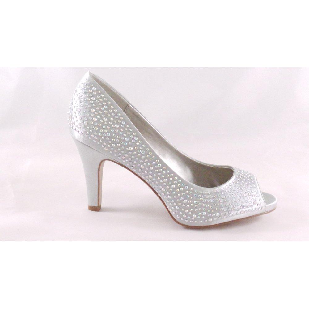 Lotus Shiraz Silver Satin/Diamante