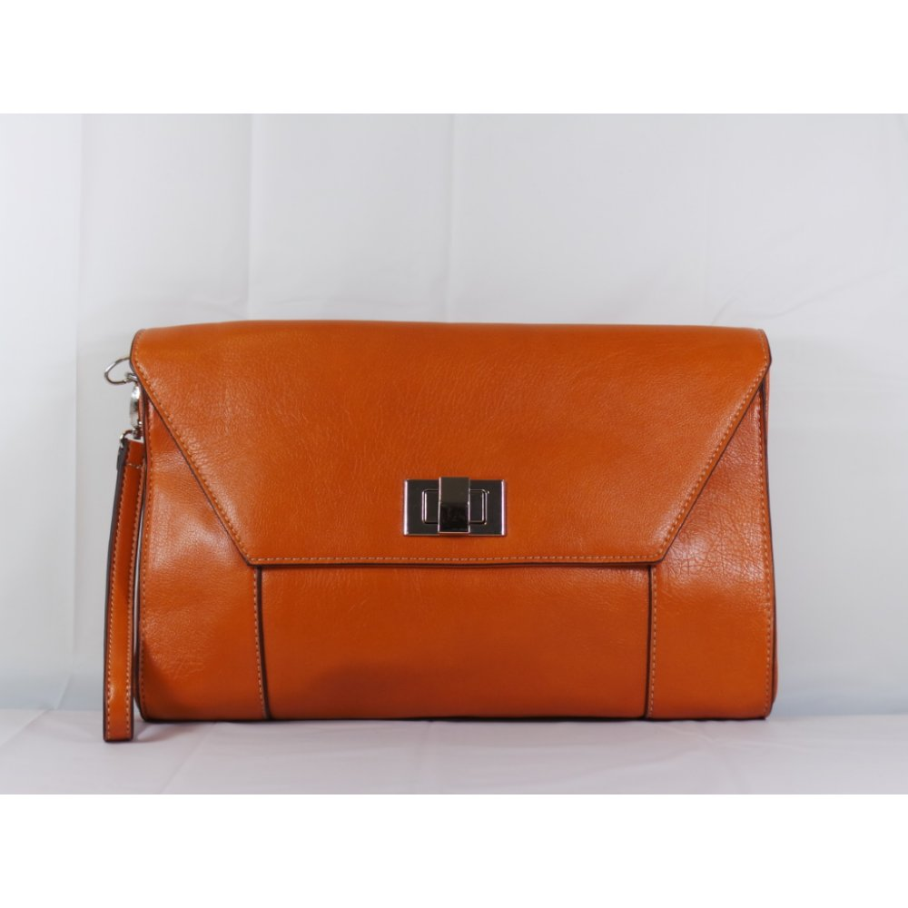 Lotus Tan Clutch Bag With Sliver Clasp - Lotus from size4footwear ...