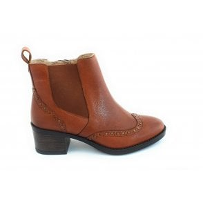 Lucinda Tan Leather Ankle Boot