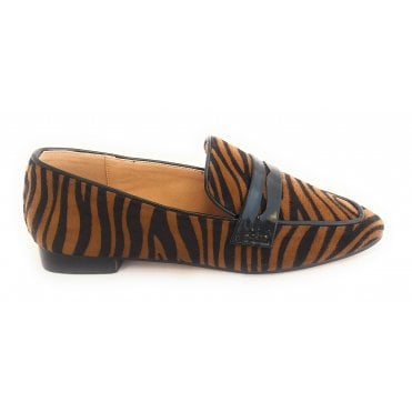 Luis Tan and Zebra Print Loafers