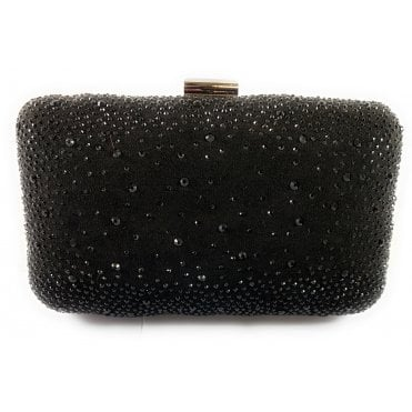 Lule Black Diamante Clutch Bag