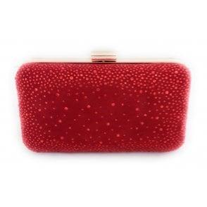 Lule Red Diamante Clutch Bag