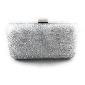 Lotus Lule Silver Diamante Clutch Bag
