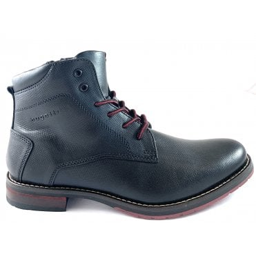 Lussorio Mens Black Leather Boots