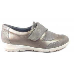 Lyn Antique Gold Print Leather Casual Shoes