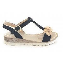 M358 Marina Black Leather Sandal