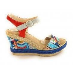 M427 Multicoloured Wedge Sandal