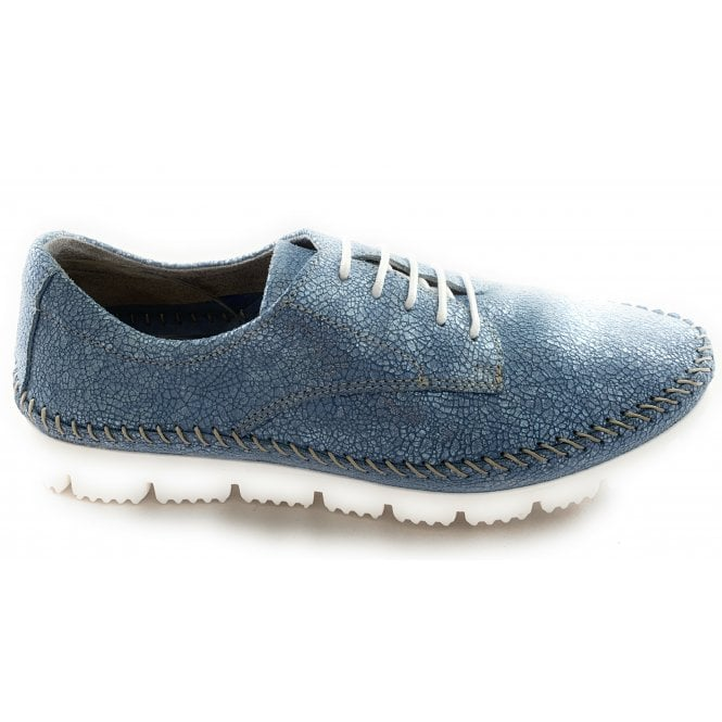 Aeros M702 Baby Blue Metallic Leather Casual Shoe