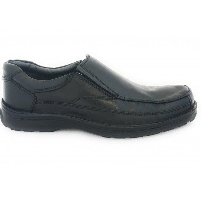 Lotus Mackinnon Black Leather Slip On Shoe