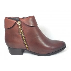 Maggie Tan Leather Ankle Boots