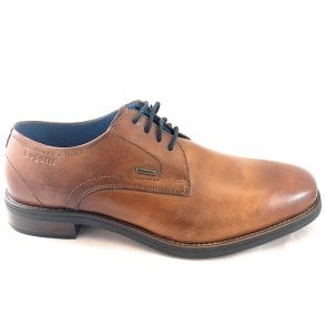 Malco Mens Cognac Leather Lace-Up Shoe