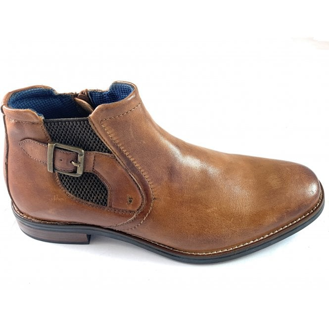 Bugatti Malco Mens Tan Leather Boots