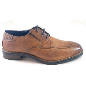Malco Mens Tan Leather Lace-Up Shoe