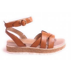 Malibu 411-A2V80-1090 Tan Leather Sandals