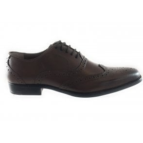 Mannock Black Leather Lace-Up Shoe