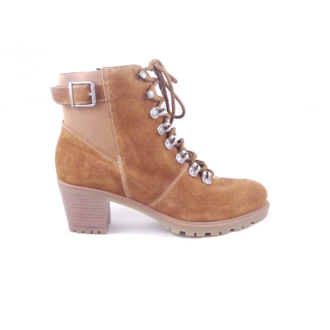 Ara Mantova-St 12-47336 Tan Suede Lace-Up Ankle Boot