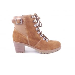 Mantova-St 12-47336 Tan Suede Lace-Up Ankle Boot