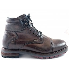 Marcello Exko Brown Leather Lace-Up Boots