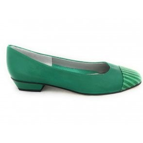 Margi Green Leather Pump
