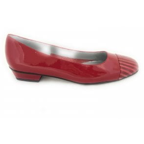 Margi Red Leather Pump