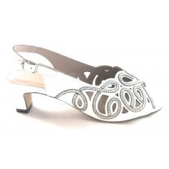 Marianna White and Silver Sling-back Shoe
