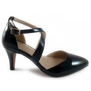 Marrel Black Patent Court Shoe