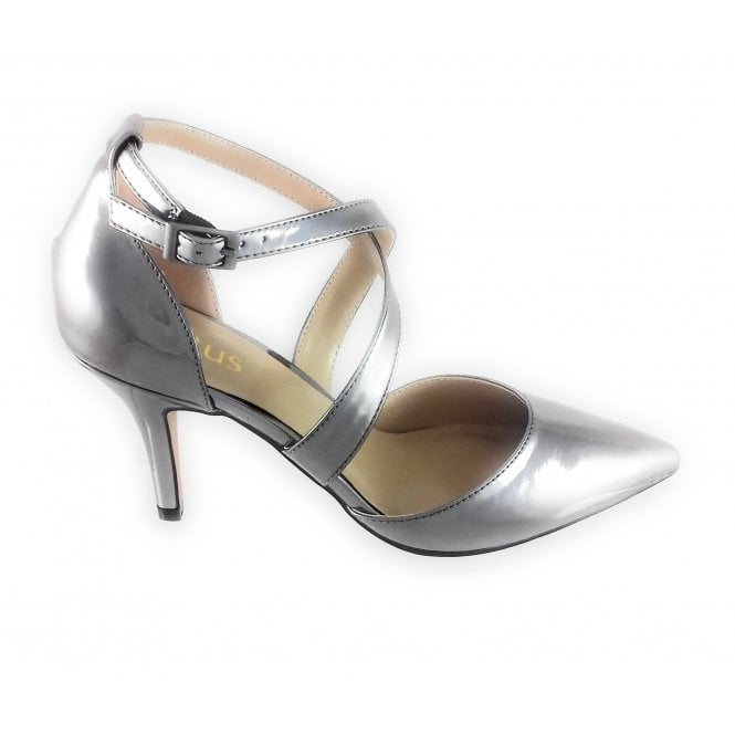 Lotus Marrel Pewter Metallic Court Shoe