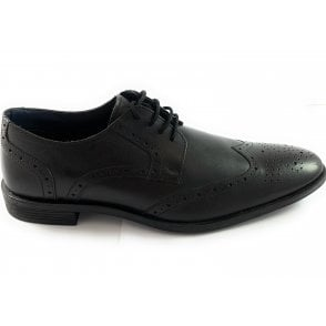 Mason Black Leather Brogue