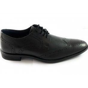 Mason Black Leather Brogue
