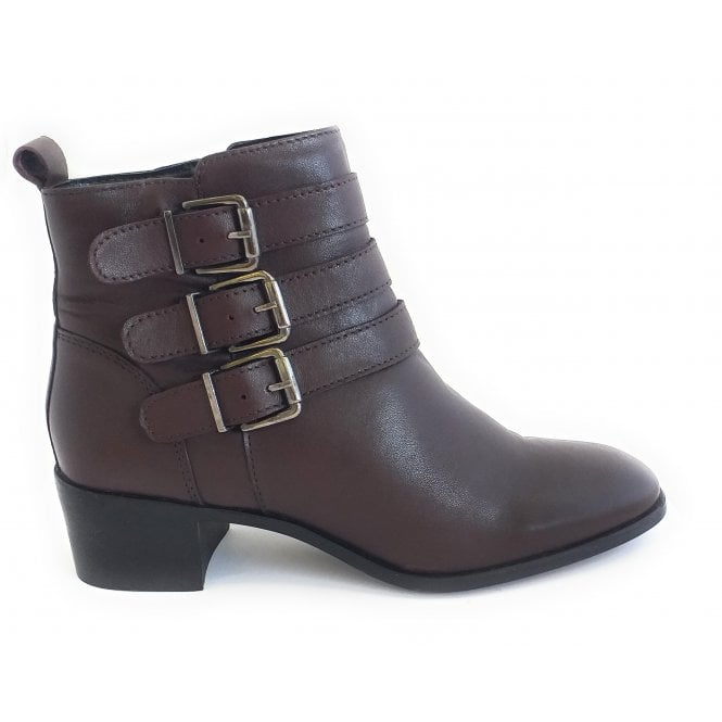 Lotus Mathilda Bordo Leather Ankle Boot