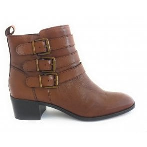 Mathilda Tan Leather Ankle Boot