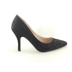 Matin 50849 Navy Microfibre Court Shoe