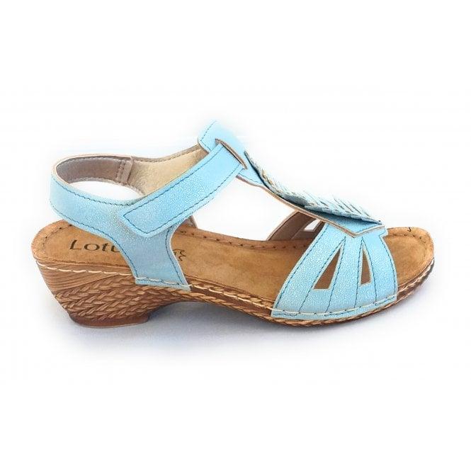 Lotus Melinda Blue Open-Toe Casual Sandal