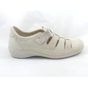 Melle 1176 Beige Microvelour Casual Shoe