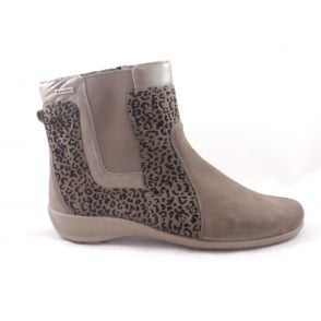 Melle 9175 Taupe Nubuck Waterproof Ankle Boot