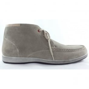 Men's Beige Suede Lace-Up Ankle Boot