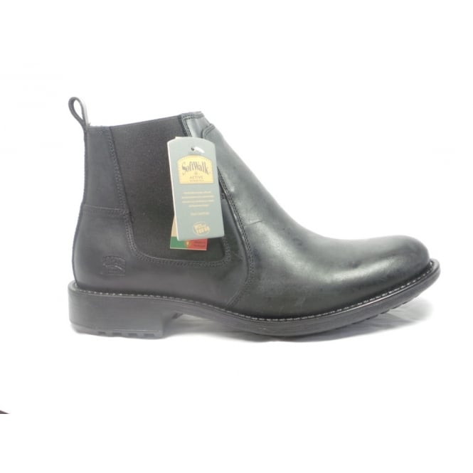 Softwalk Mens Black Leather Chelsea Boot