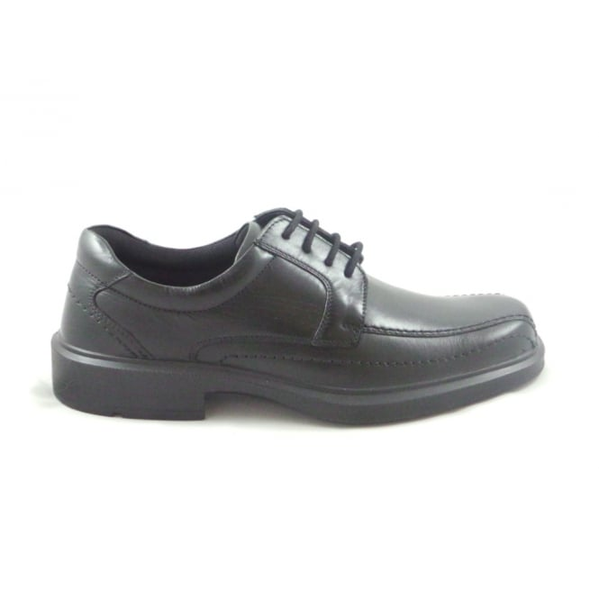 Mens Black Leather Lace-Up Formal Shoe