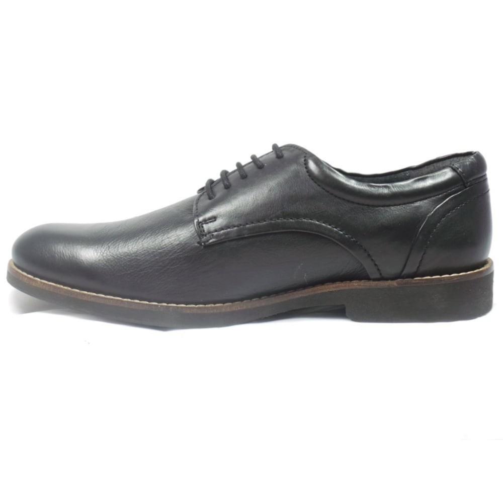 lotus mens black leather lace up shoe lotus from