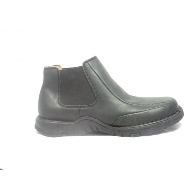 Softwalk Mens Black Leather Slip-on Chelsea Boot
