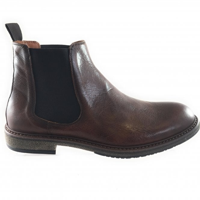 Mens Brown Leather Chelsea Boot