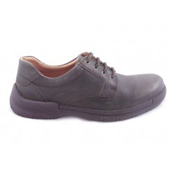 Mens Brown Leather Lace-Up Casual Shoe
