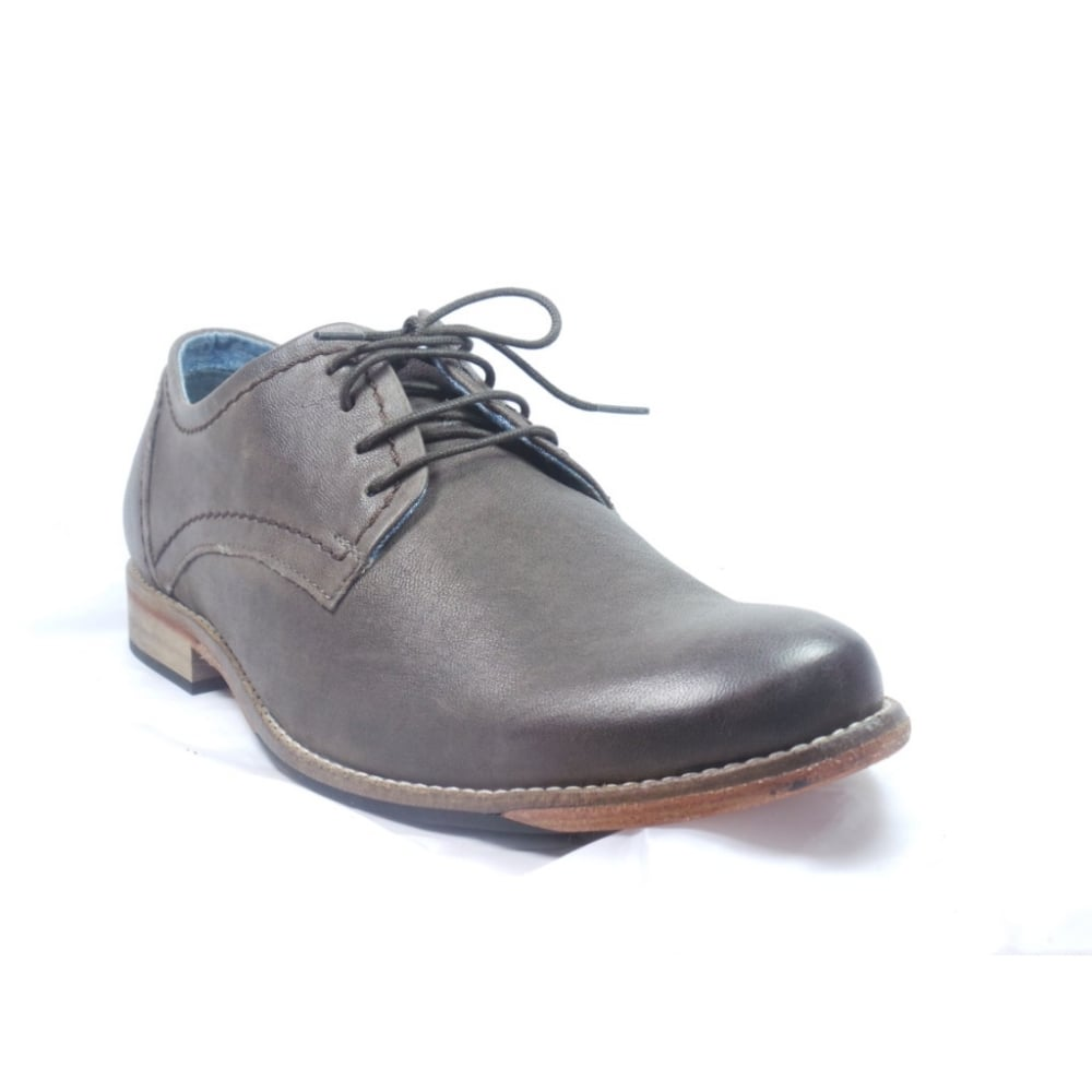 lotus mens brown leather lace up casual shoe lotus from