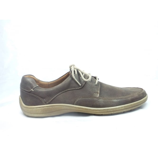 Softwalk Mens Brown Nubuck Lace-Up Casual Shoe