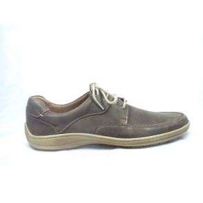 Mens Brown Nubuck Lace-Up Casual Shoe