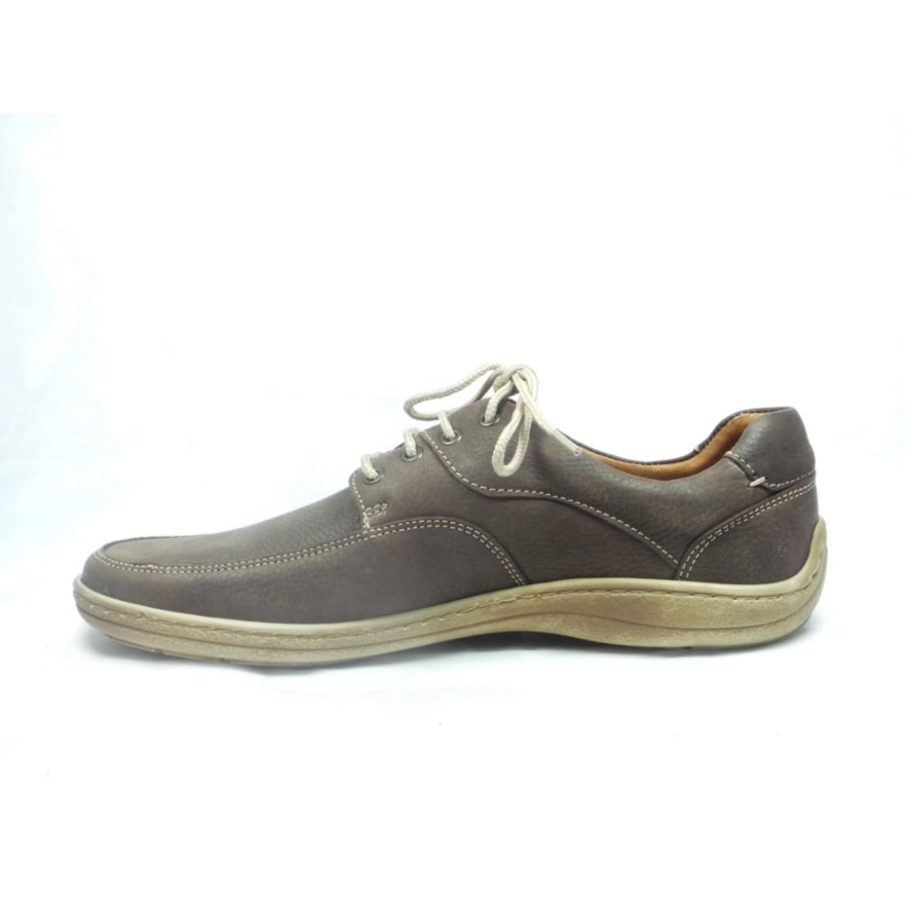 softwalk mens brown nubuck lace up casual shoe softwalk