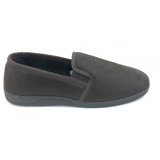 Lotus Mens Brown Slippers